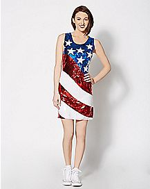 Sequin American Flag Dress