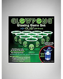 Alien Glow Beer Pong Set