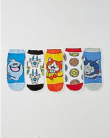 Yo-Kai Watch No Show Ankle Socks 5 Pair