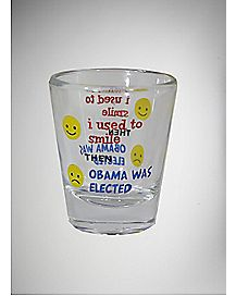 Used To Smile Shot Glass