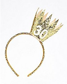 30th Birthday Gold Crown Headband