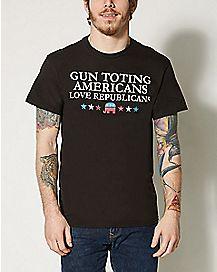 Gun Toting Americans Love Republicans T shirt