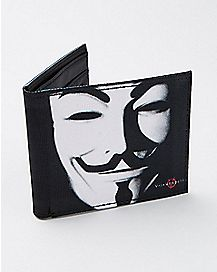 Mask V for Vendetta Bifold Wallet