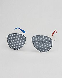 Star Lens Aviator Sunglasses
