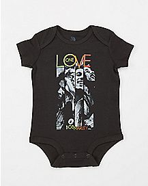 Panel One Love Bob Marley Baby Bodysuit