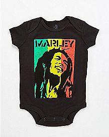 Rasta Flag Bob Marley Baby Bodysuit