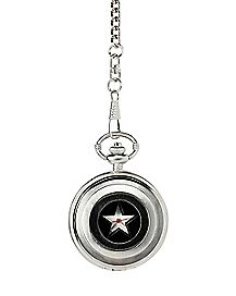 Cutout Captain America Pocket Watch