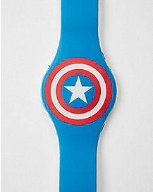Logo Captain America LED Watch - Marvel Comics
