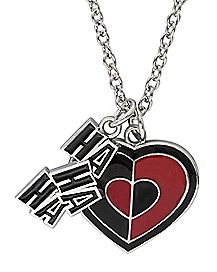 HaHa Heart Harley Quinn Necklace