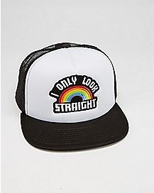 I Only Look Straight Trucker Hat