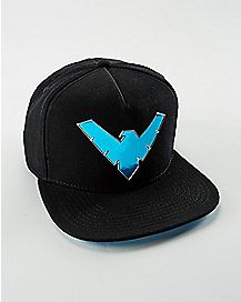 Chrome Logo Nightwing Snapback Hat