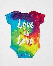 Love Is Love Tiedye Baby Bodysuit