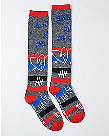 Little Monster Harley Quinn Suicide Squad Knee High Socks