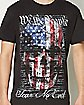 We The People Fear No Evil Skull T shirt