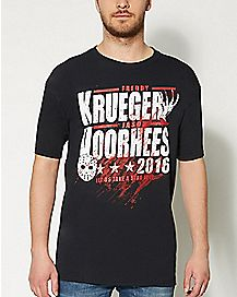 Freddy Krueger and Jason Voorhees 2016 T shirt