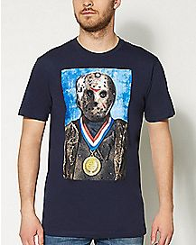 Gold Medal Jason Friday the 13th T shirt