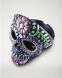 Skull Head Ashtray - Purple