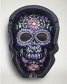 Sugar Skull Ashtray - Resin