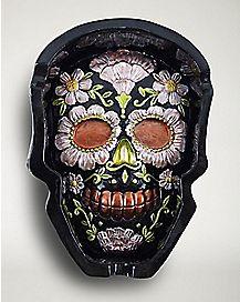 Sugar Skull Ashtray - Resin Black