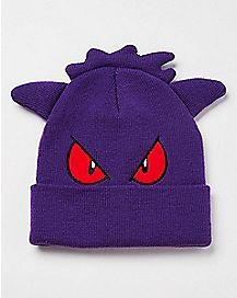 3D Gengar Pokemon Cuff Beanie Hat