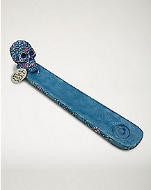 Sugar Skull Incense Burner - Blue