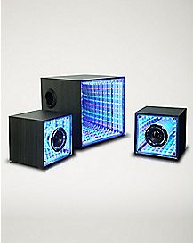 LED Mirror Tunnel Subwoofer with Speakers