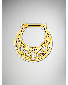Ornate Clicker Septum Ring - 14 Gauge