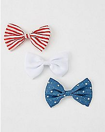 American Flag Bows- 3 Pack