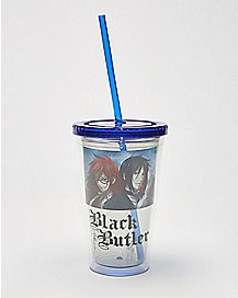 Black Butler Cup With Straw 16 oz