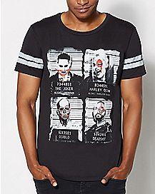 Mugshot Suicide Squad T Shirt