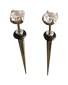 Clear Cubic Zirconia Fake Taper Set