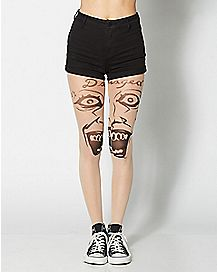 Suicide Squad Joker Face Tights