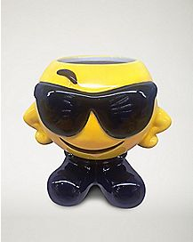 Molded Smiley Face With Sunglasses Coffee Mug - 12 oz.