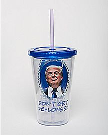 Schlonged Trump Cup with Straw