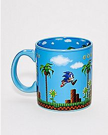 In Out Print Coffee Mug 20 oz. - Sonic the Hedgehog