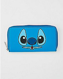 Double Sided Scrump Stitch Zip Wallet