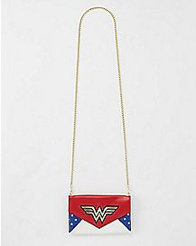 Quilted Envelope Wonder Woman Chain Wallet