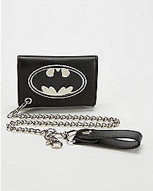 Metal Badge Batman Chain Wallet