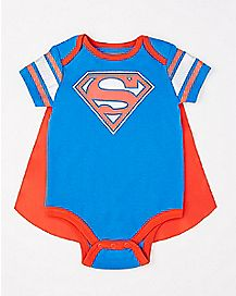 Caped Superman Baby Bodysuit - DC Comics
