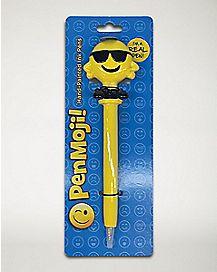 Cool Man Smiley Face Pen