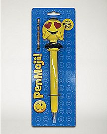 Smiley Face With Heart Eyes Pen