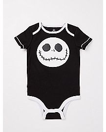 Face Jack Skellington Baby Bodysuit - The Nightmare Before Christmas