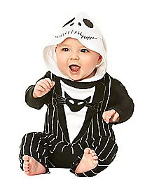 Hooded Nightmare Before Christmas Baby Romper