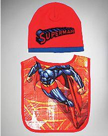 Superman Bib And Hat Set