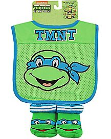 TMNT Mesh Bib And Bootie Set