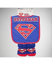 Superman Bib & Bootie Set