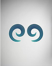 Teal Frosted Glass Spiral Tapers