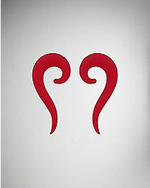 Red Frosted Glass Spiral Taper 2 Pack