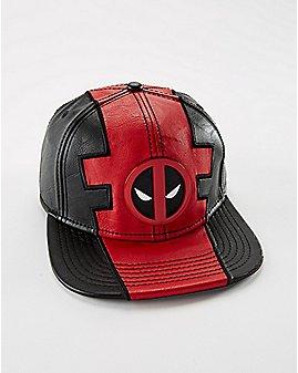 Deadpool Faux Leather Snapback Hat - Marvel Comics