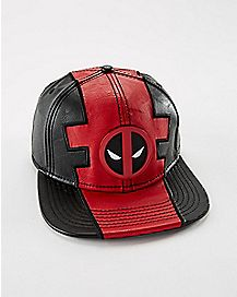 Deadpool Faux Leather Snapback Hat - Marvel Comics